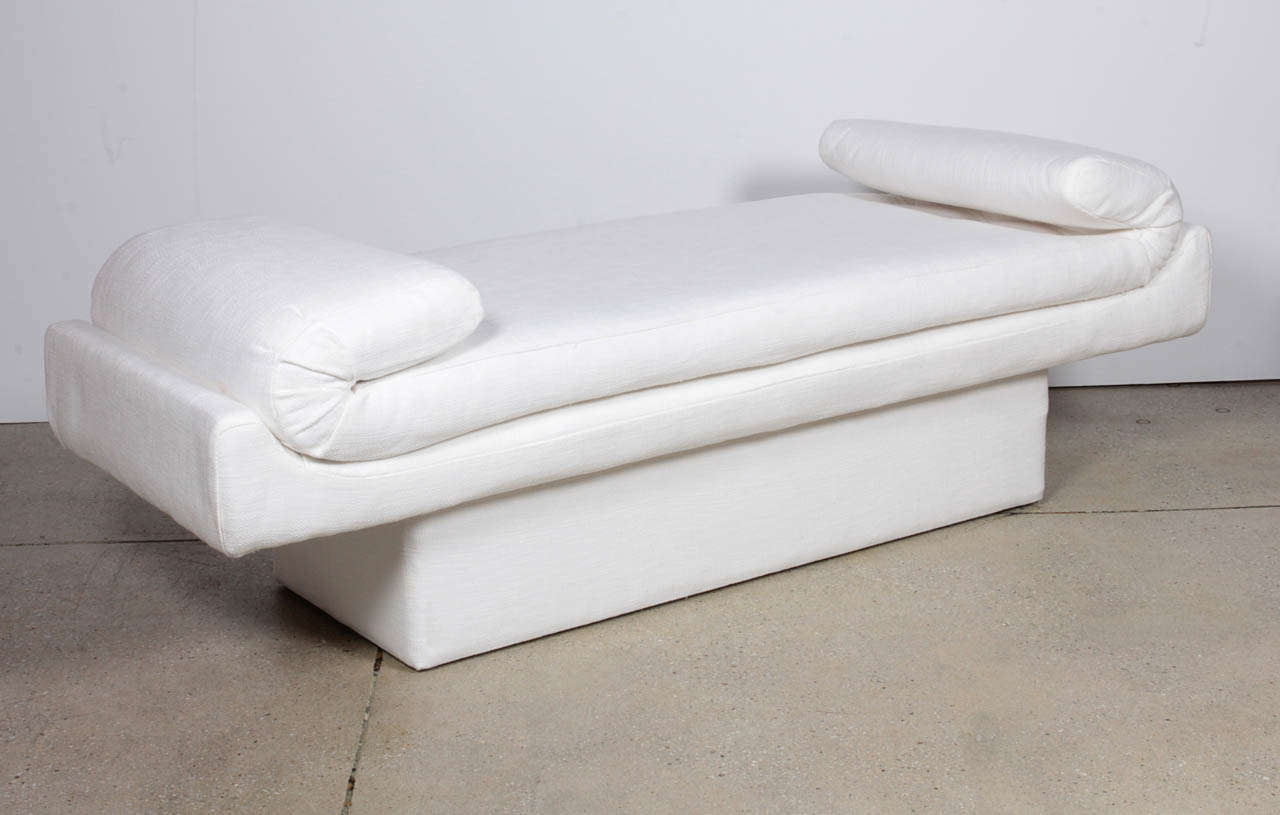 Sculptural Mid Century Modern Upholstered Bench By Baker