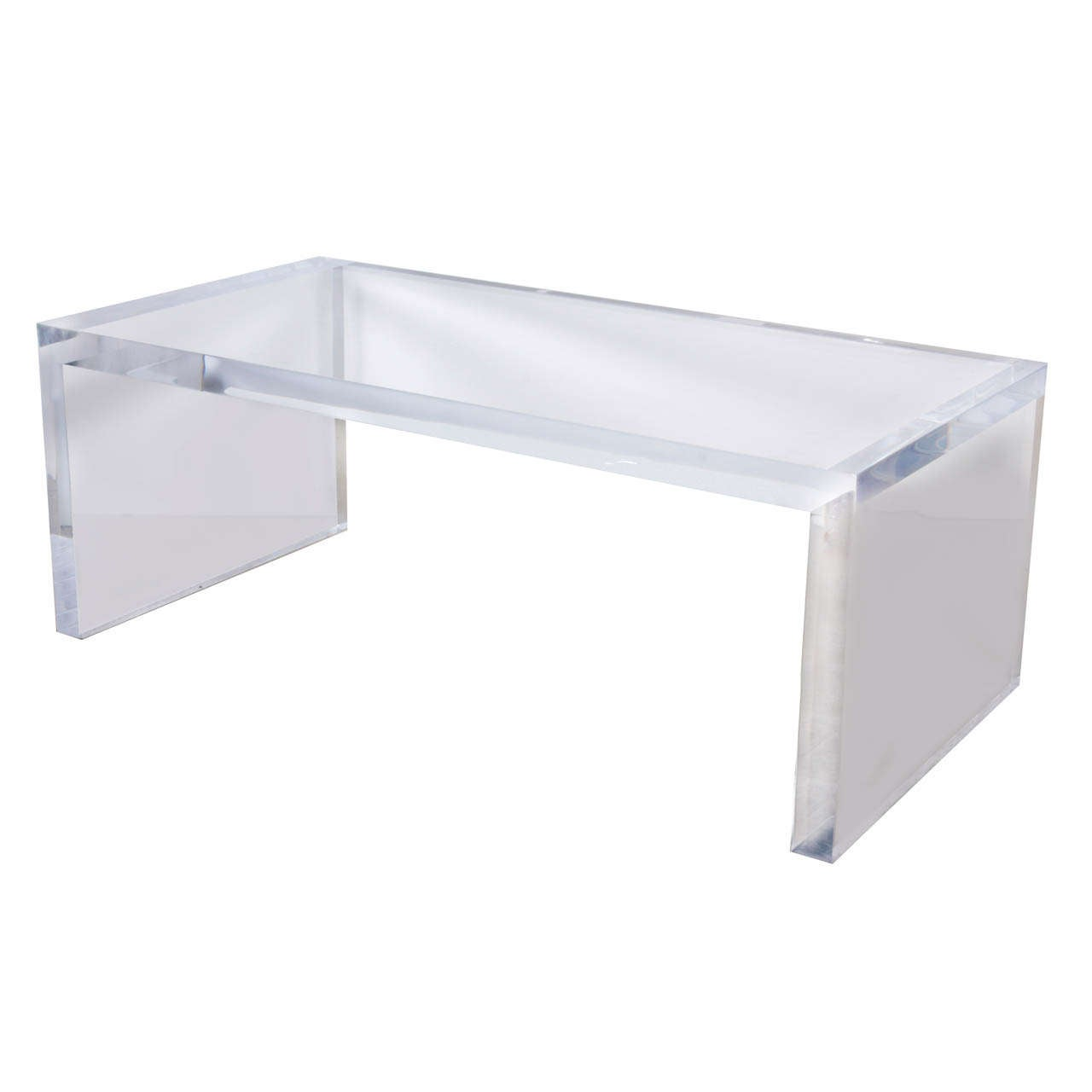 Large And Thick Lucite Coffee Table At 1stdibs