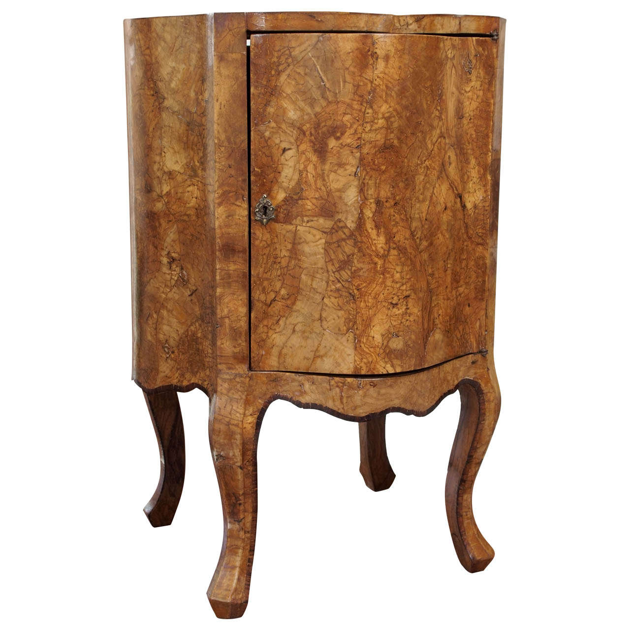 Italian 19th Century Olive Wood Cabinet At 1stdibs
