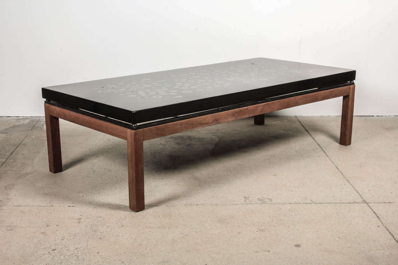 Ado Chale Coffee Table In Resin Inlaid Marcasite For Sale At 1stdibs