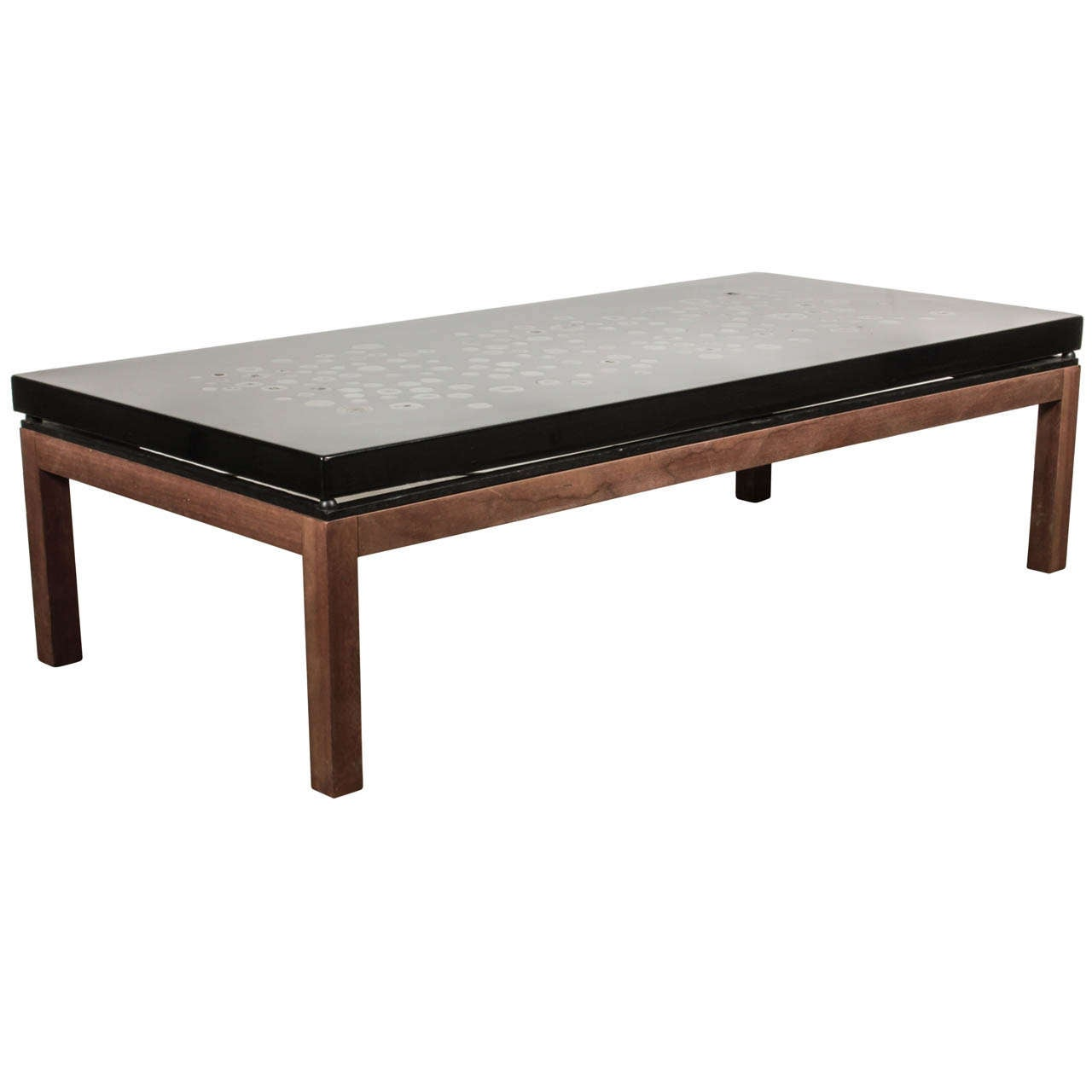 Ado Chale Coffee Table In Resin Inlaid Marcasite At 1stdibs