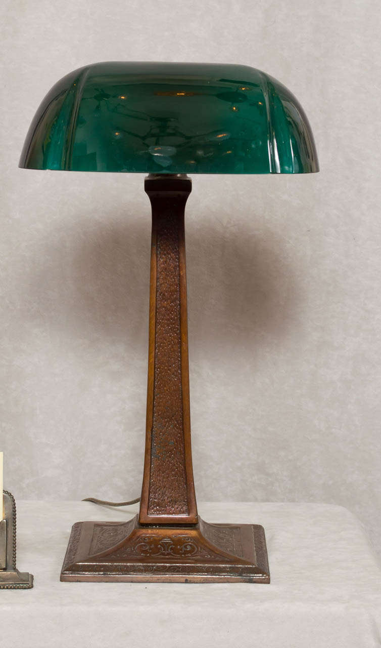 Bankers desk lamp with green shade by aladdin at 1stdibs bankers desk lamp with green shade by aladdin 2 geotapseo Image collections