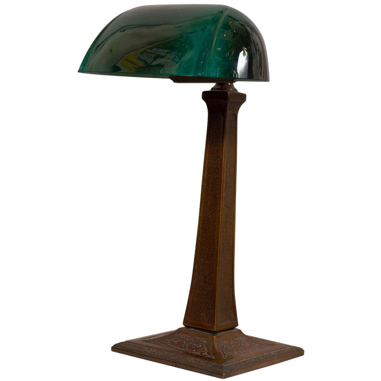 Banker's Desk Lamp with Green Shade by Aladdin 1 - Banker's Desk Lamp With Green Shade By Aladdin At 1stdibs