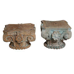 Pair of Wood Capitals