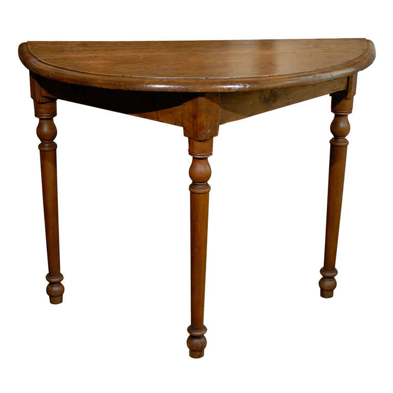 Italian demi lune table at 1stdibs - Table cuisine demi lune ...
