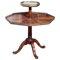 Oversized Mahogany Drum Center Table At 1stdibs
