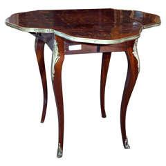 French Mahogany Inlaid Handkerchief Table