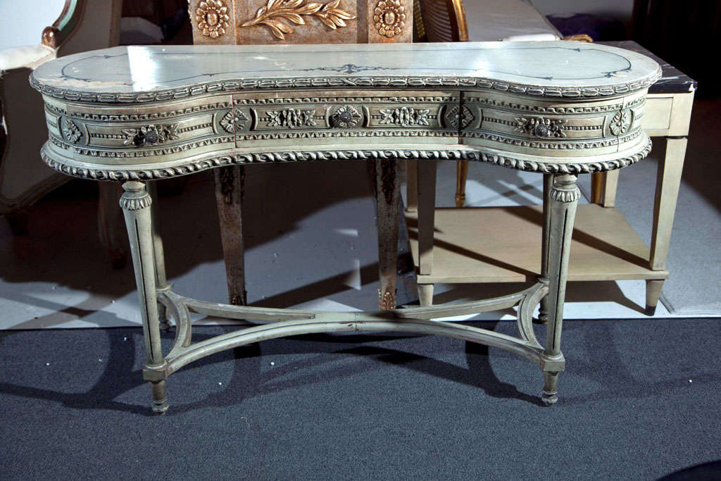 Painted French Louis XIV Style Vanity Table image 2