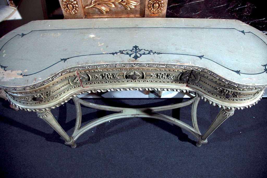 Painted French Louis XIV Style Vanity Table image 6