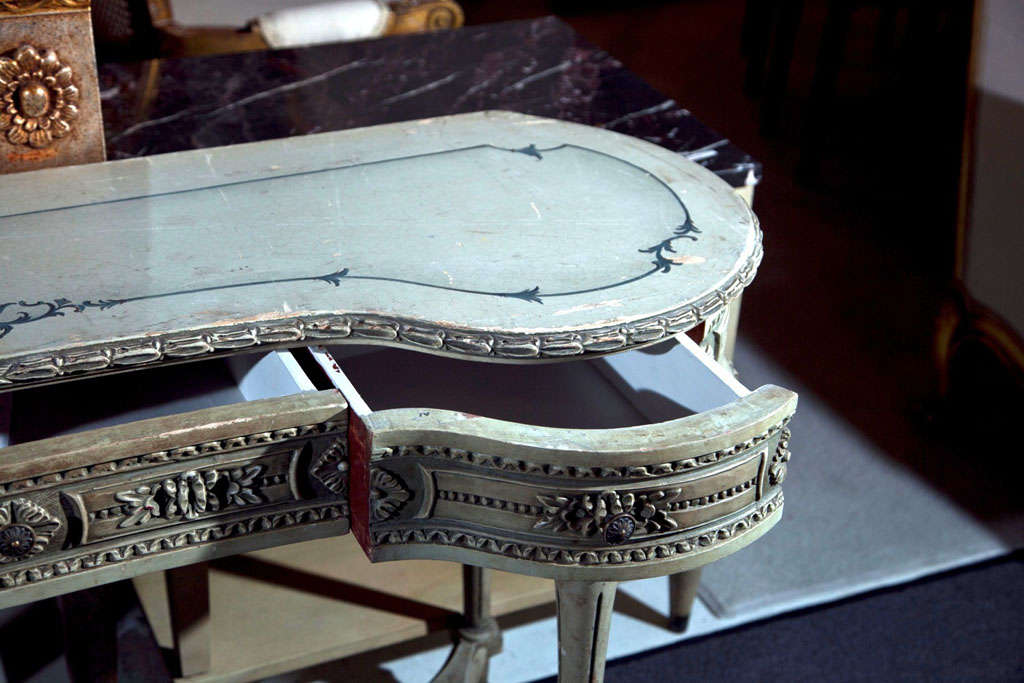 Painted French Louis XIV Style Vanity Table image 7