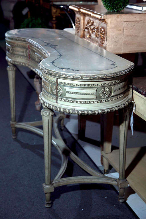 Painted French Louis XIV Style Vanity Table image 9