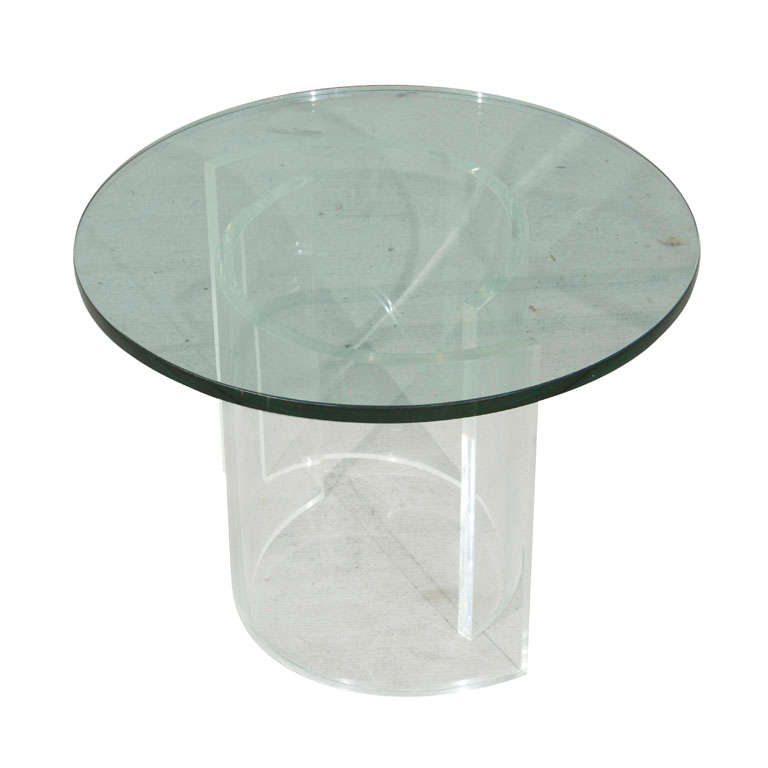 Lucite 2 piece glass table at 1stdibs One piece glass coffee table