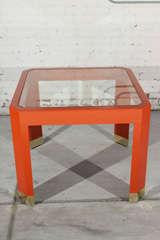 Chinoiserie Orange Lacquer Dining Set image 4