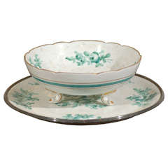 Limoges Footed Bowl and Underplate