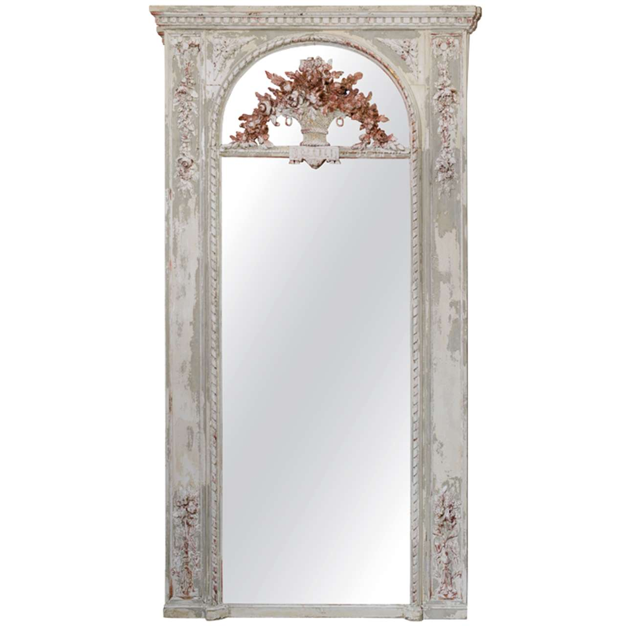 French Distressed Mirror At 1stdibs
