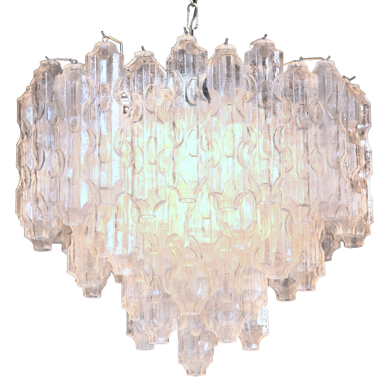 Vintage Tronchi Murano Glass Chandelier