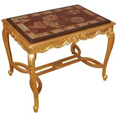 Rare French table with Coromandel laquer top