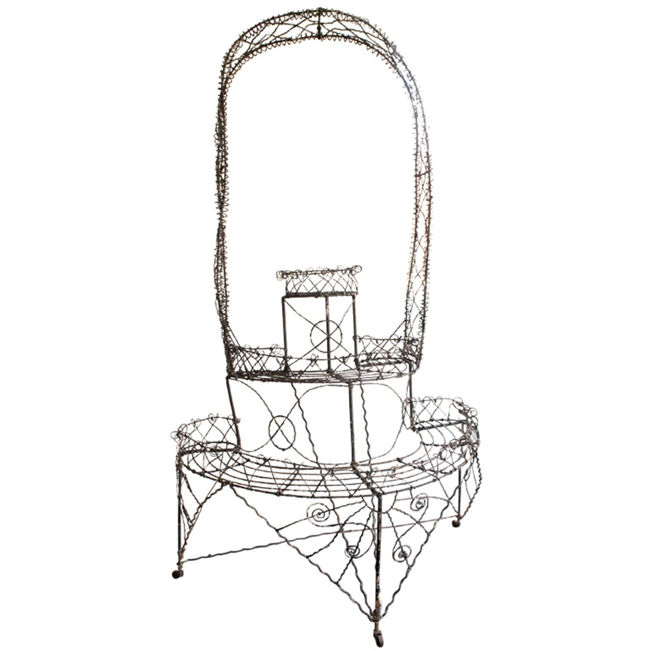 victorian wire plant grotto at 1stdibs