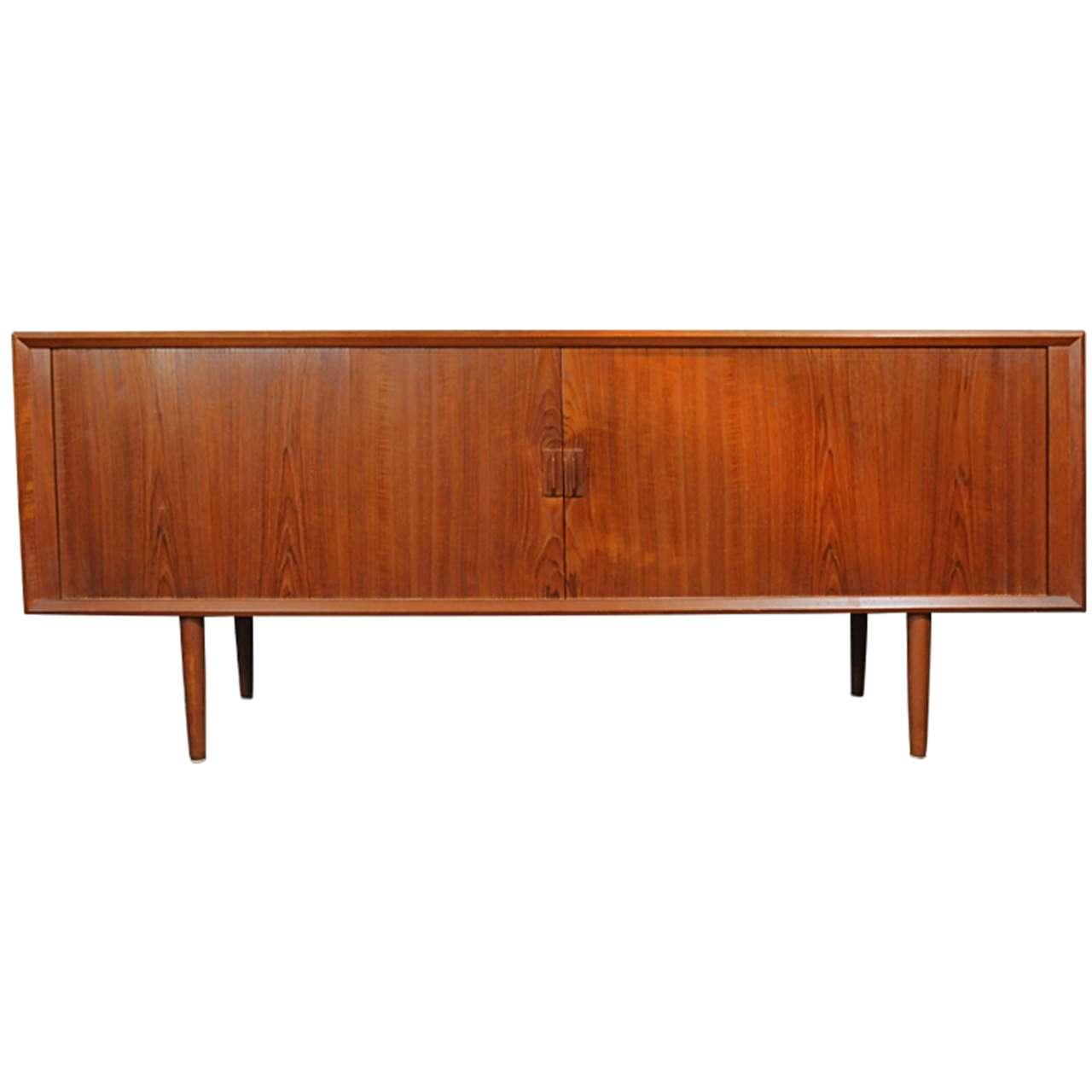 rare tambour door sideboard by arne vodder for sibast at 1stdibs. Black Bedroom Furniture Sets. Home Design Ideas