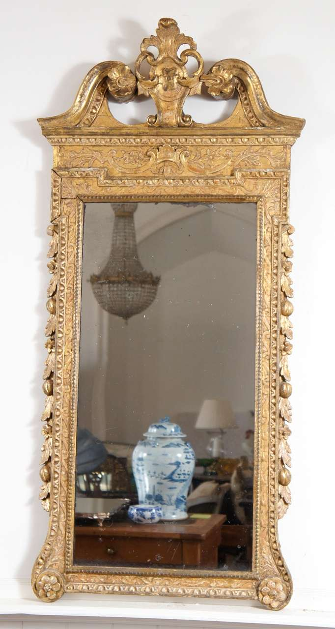 Pair of george ii style giltwood mirrors at 1stdibs for Church style mirrors