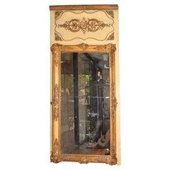 Rococo French Giltwood Trumeau Mirror