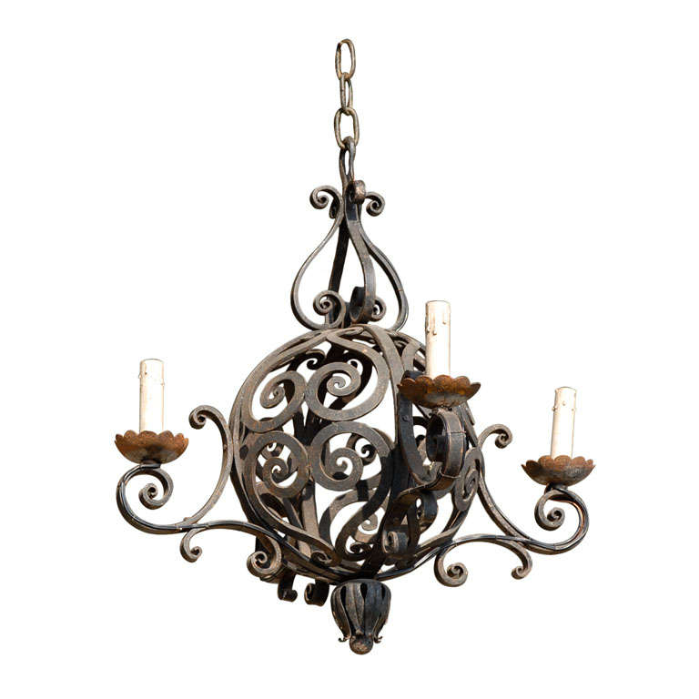 French Orb Chandelier at 1stdibs