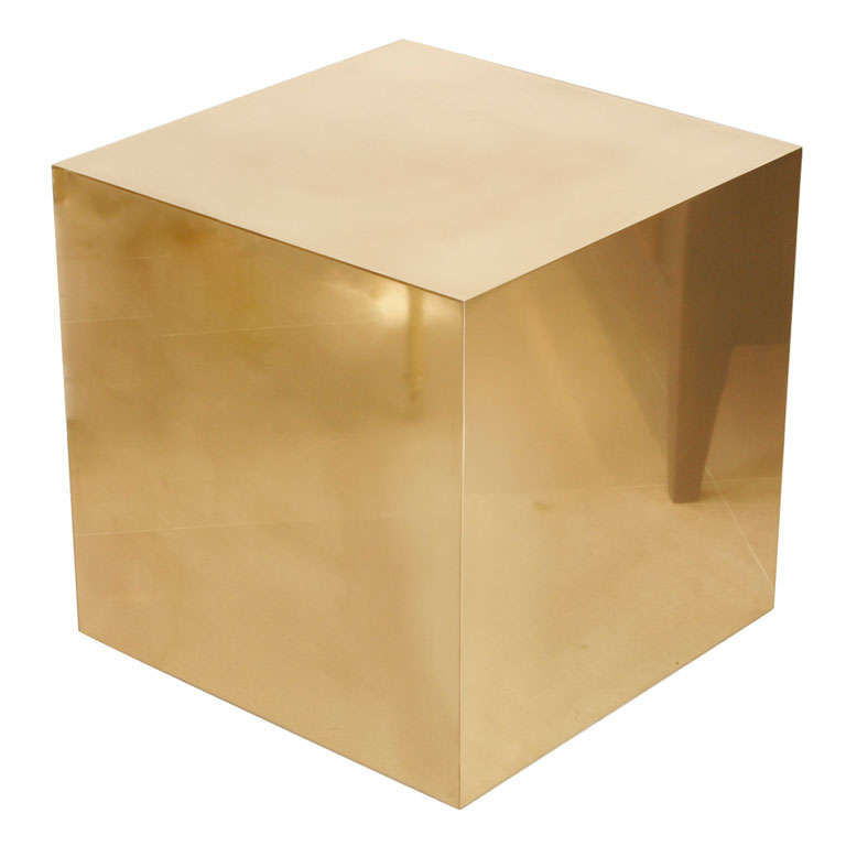 Cube Side Table At 1stdibs