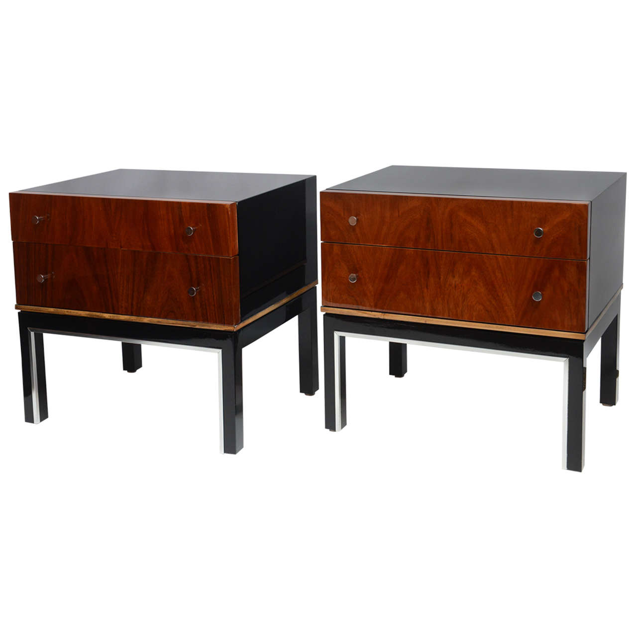 and walnut nightstands by american of martinsville at 1stdibs