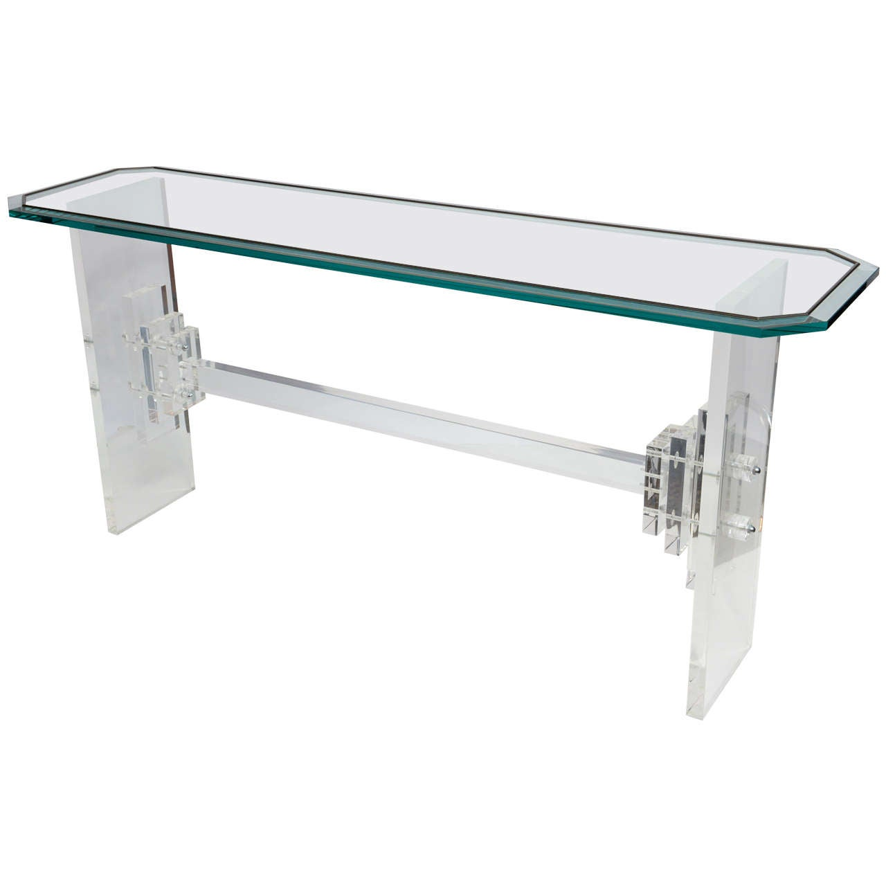 1970s Lucite Console Table At 1stdibs