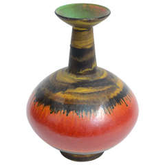 Mid-Century Multicolor Italian Modernist Pottery by Alvino Bagni for Raymor