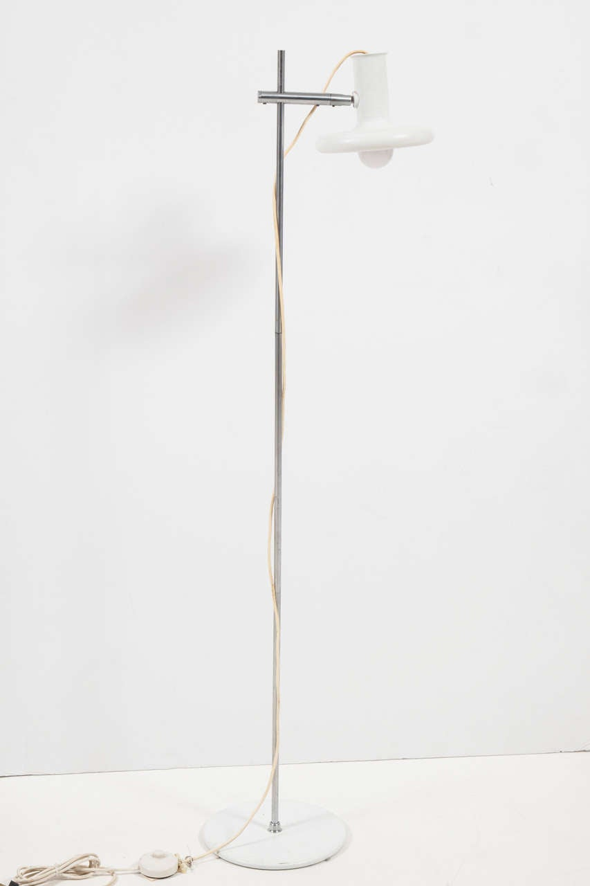 Painted Mid Century Floor Lamp by Hans Due for Fog and Mørup For Sale
