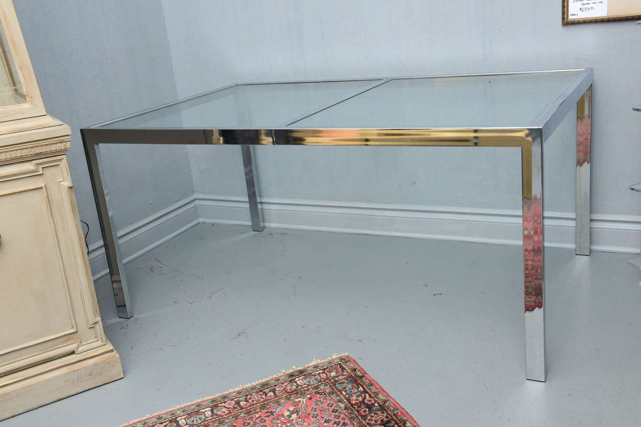 Mid Century Extension Dining Table By Milo Baughman At 1stdibs