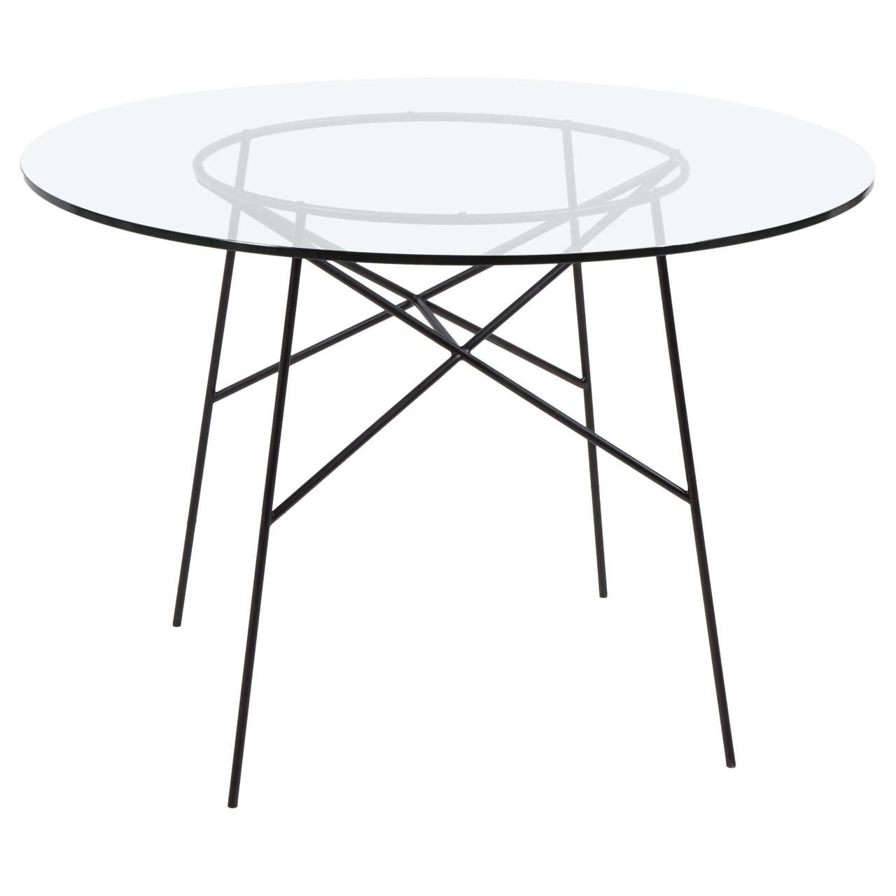 Roy wire frame iron dining table for sale at 1stdibs for Dining table frame