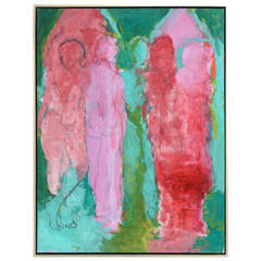 Oil on Canvas Modernist Painting by Jan Sivertsen