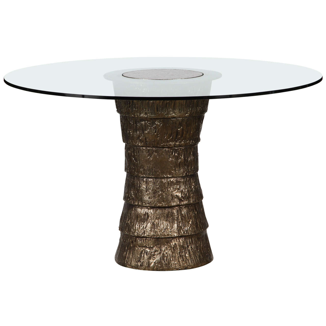 Sculptural Brutalist pedestal-style table, 21st century, offered by Paul Marra Design