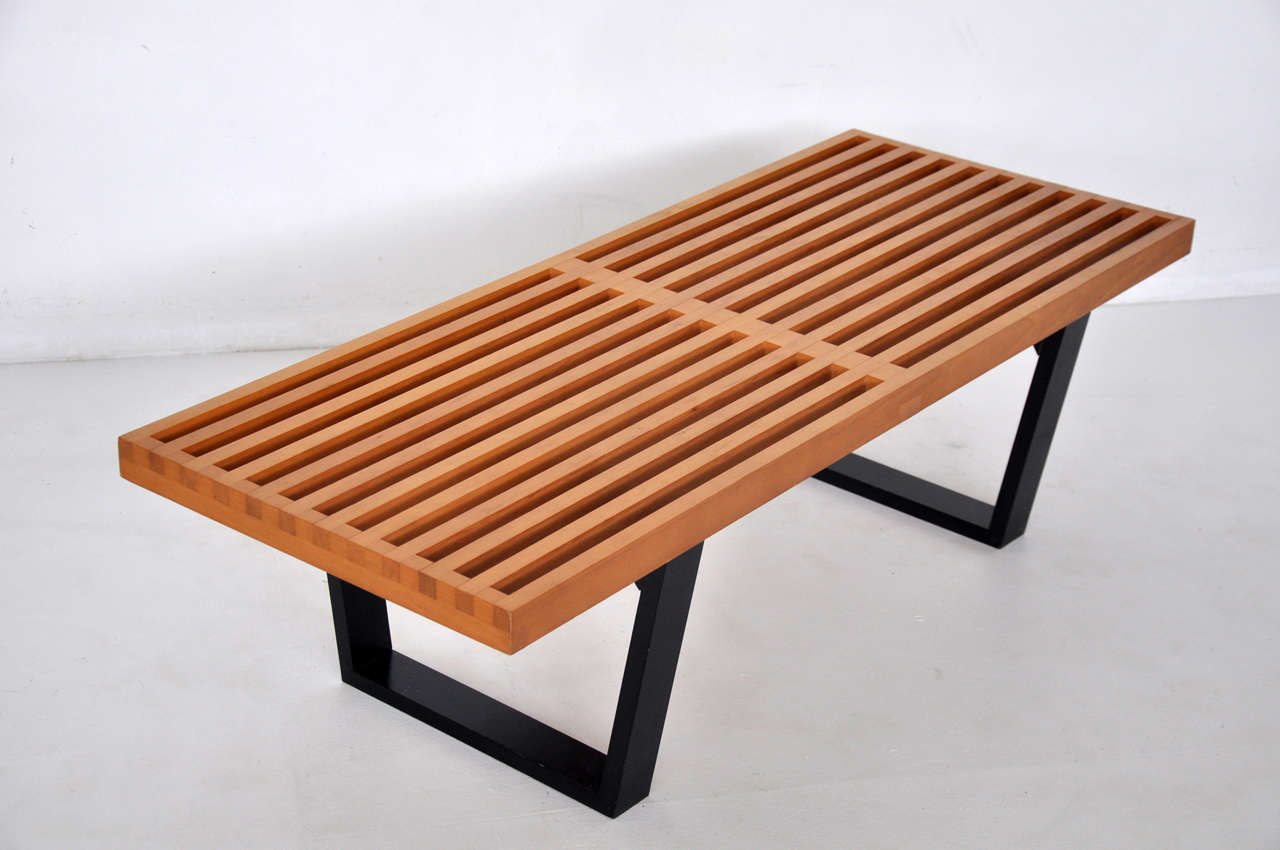 Early George Nelson Slat Bench For Herman Miller At 1stdibs