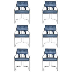 """Set of Six Mariani for Pace """"Tucroma"""" Dining Chairs"""