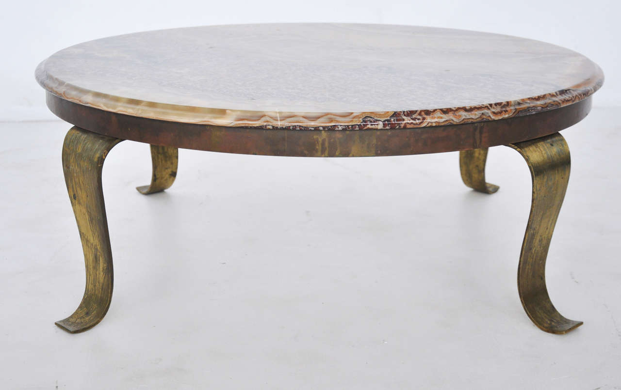 Muller Onyx And Brass Coffee Table For Sale At 1stdibs