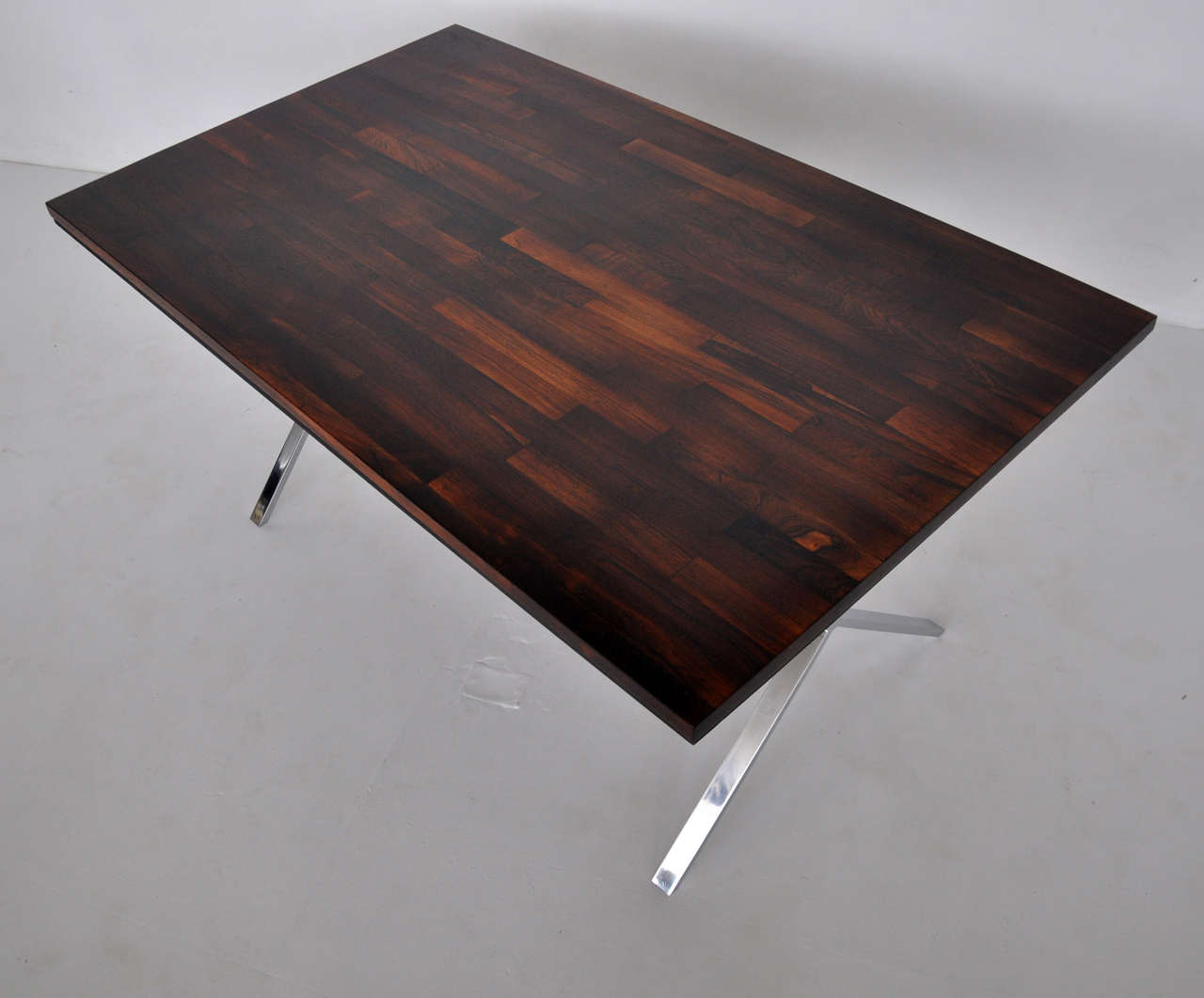 Wonderful image of Milo Baughman Rosewood X Base Desk or Dining Table For Sale at 1stdibs with #64433C color and 1280x1061 pixels
