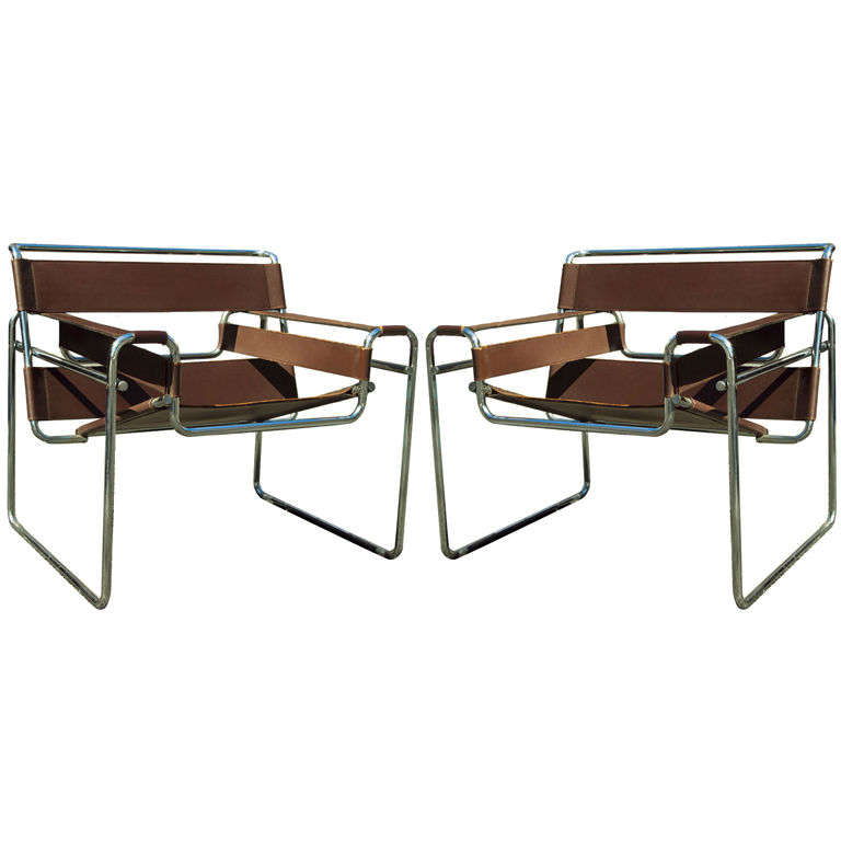 pair of chocolate brown wassily chairs by marcel breuer at 1stdibs