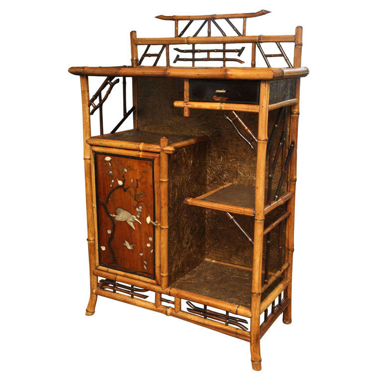 very fine 19th century english bamboo etagere at 1stdibs. Black Bedroom Furniture Sets. Home Design Ideas