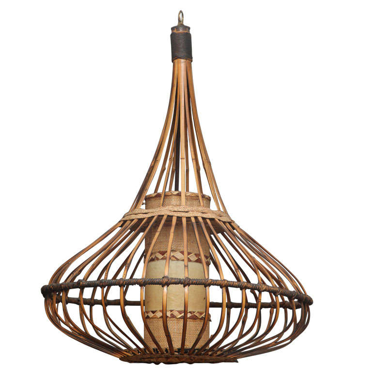 Rattan Chandelier At 1stdibs