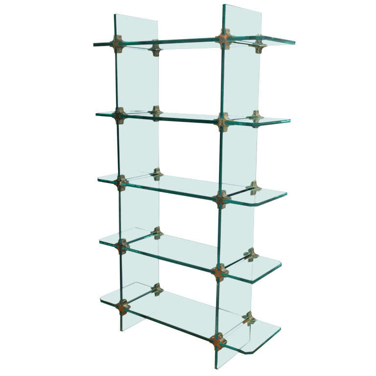Glass Etagere At 1stdibs