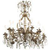 Grand Bronze & Crystal 25 Light Chandelier/Ritz Carlton Hotel