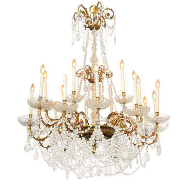 Grand 18-Light Chandelier from Ritz Carlton, Palm Beach