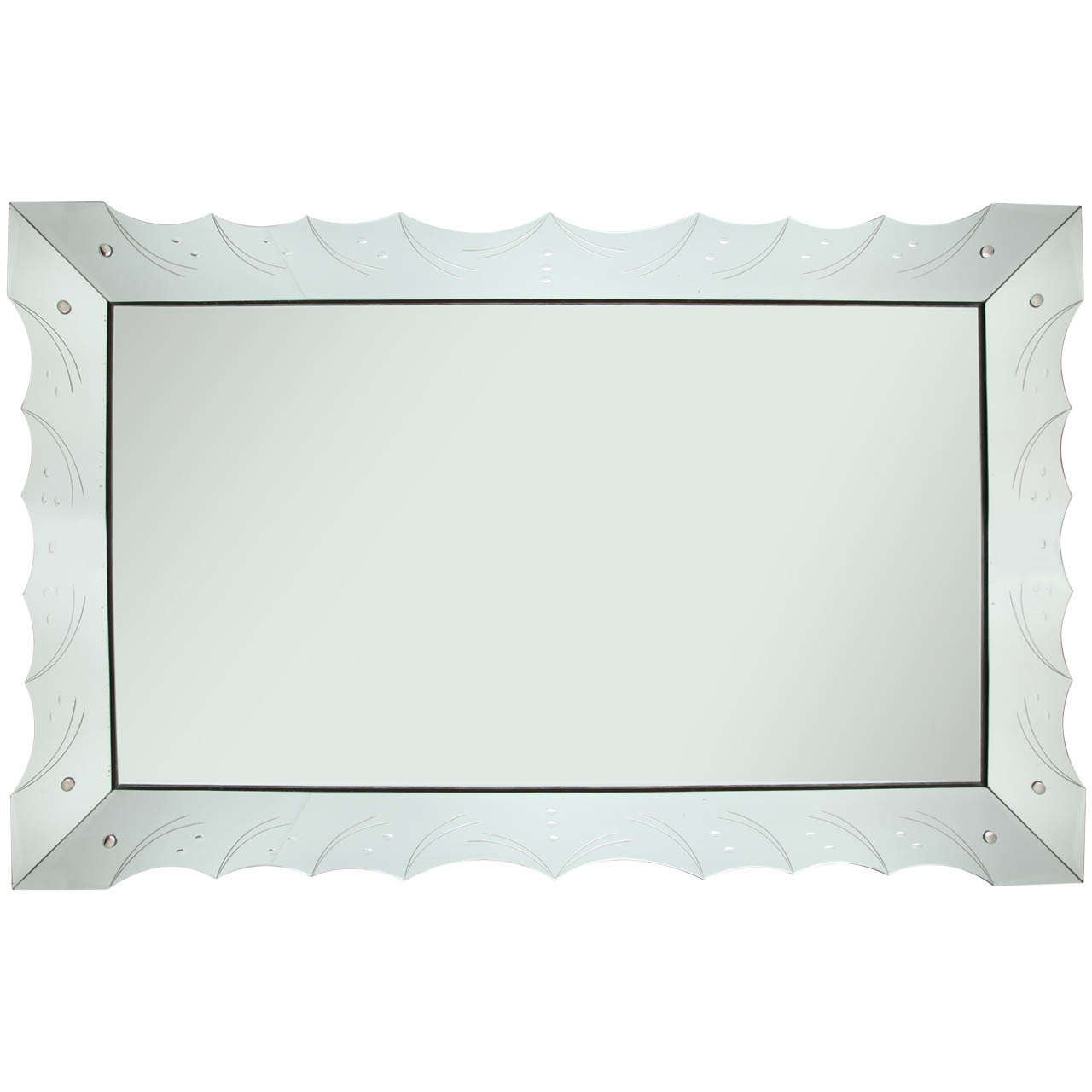 Art Deco Style Hollywood Regency Large Mirror