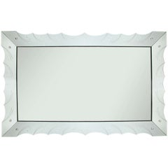 Art Deco Style Hollywood Regency Large Mirror