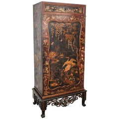 1900s, English Chinoiserie Cabinet