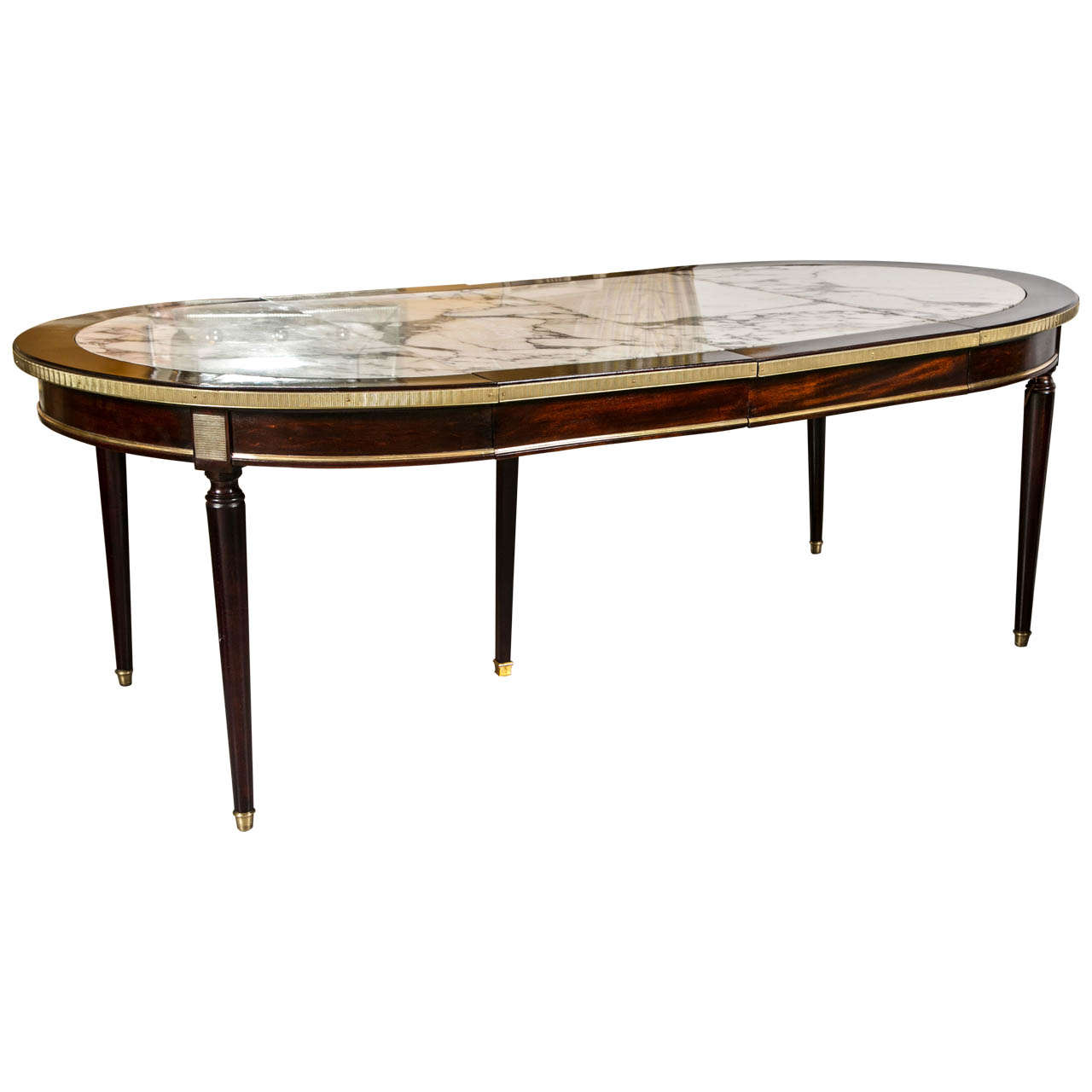 A Two Leaf Marble Top Dining Table By Maison Jansen At 1stdibs