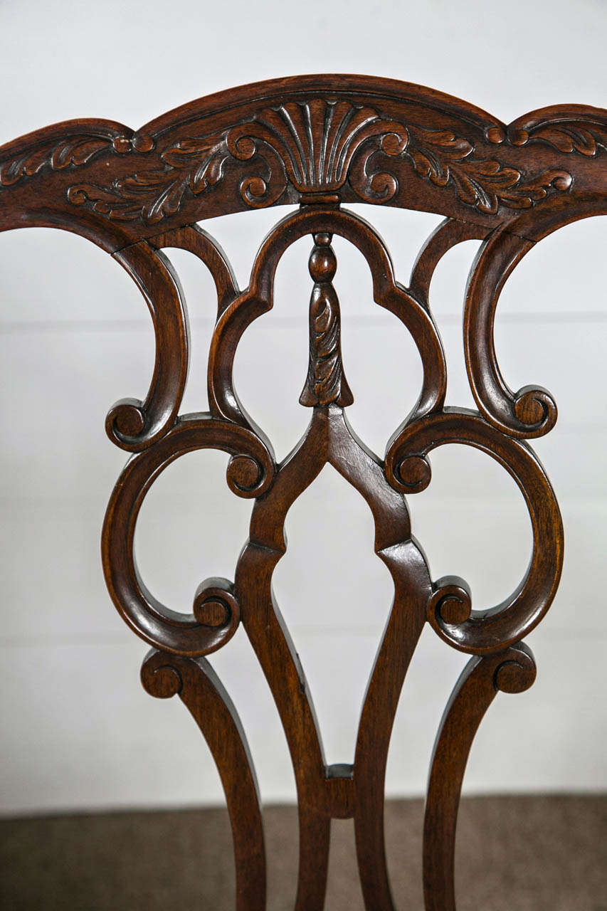 English Set Of Eight Chippendale Dining Chairs With Ball And Claw Feet For